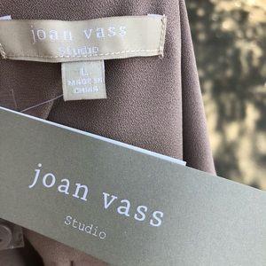 Joan Vass Tops - Joan Vass Sleeveless sz L Split Taupe Tunic NWT